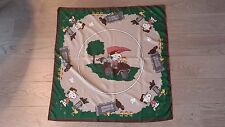 Peanuts Charlie Brown Snoopy & Woodstock Silk Scarf Golf Theme - Signed Schulz