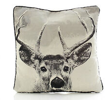 "Stag Cushion Cover Tapestry Design 18x18"" (45x45cm)"