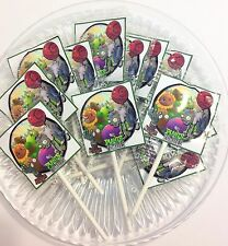 12 PLANTS VS ZOMBIES LOLLIPOPS CANDY FOR PARTY FAVORS MADE IN THE U.S.A