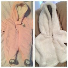 Carter's Lot,Newborn Coverall,3 Months Coat,Winter,Baby Girl,One Piece,Hoodie