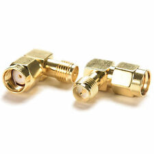 1 PCS 90°right angle Adapter RP.SMA male jack to RP.SMA female plug connector SS