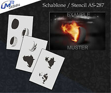 Step by Step Airbrush Schablone AS-287 M Reifen ~ Tattoo Stencil ~ UMR-Design
