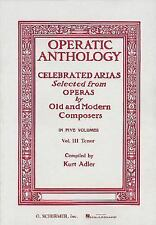 Operatic Anthology : Celebrated Arias (1986, Paperback)