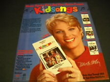 KIDSONGS pitched by MARIETTE HARTLEY 1986 music business PROMO DISPLAY AD mint