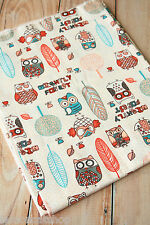 Nightly Forest OWLS Cotton Fabric zakka cute cartoon sewing quilting patchwork