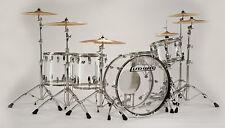 Ludwig Vistalite ZEP SET 26x14,16x18,16x16,10x14,6.5x14 CLEAR Drum Kit Free Bags
