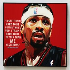 Allen Iverson canvas quotes wall decals photo painting framed pop art poster
