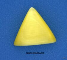 12 MM TRIANGLE MAN MADE CATS EYE CAB CITRINE 2 PC SET $1.99