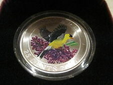 Canada 2010 25-cent Coloured Coin - Goldfinch