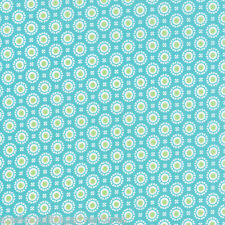 MODA Fabric ~ HI DE HO ~ Me & My Sister (22252 16) Turquoise - by the 1/2 yard