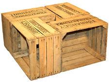 4 Pezzi Solido Obstkisten TS Cassette di vino Forziere in legno Cassetta mele