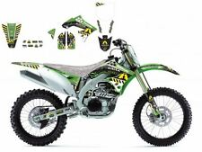BLACKBIRD KAWASAKI KXF 450 2009 KIT GRAFICHE ADESIVI ARMA ENERGY GRAPHICS NERE