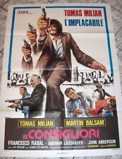 Poster  2sh IL CONSIGLIORI Tomas Milian De Martino Mafia crime og Italy 1974