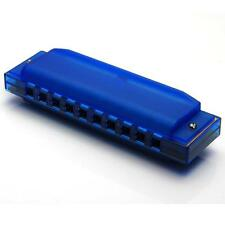 10 Holes Diatonic Blues Harp Harmonica Key of C Translucent
