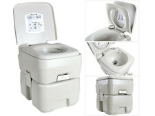5 Gal / 20L Portable Flushing Toilet Outdoor Camping Hiking Potty Indoor Commode