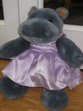 "BEAR FACTORY HIPPOPOTAMUS PLAYS HAPPY BIRTHDAY 11-14"" TEDDY SOFT TOY HIPPO"
