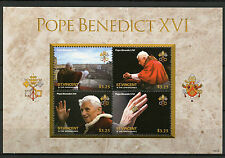 St Vincent & The Grenadines 2014 MNH Pope Benedict XVI 4v M/S Papal Ring Popes