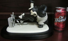 RARE Disney LE Steamboat Willie Mickey Mouse Pete Black & White Figure Statue