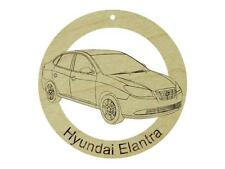Hyundai Elantra Natural Maple Hardwood Ornament Sanded Finish Laser Engraved