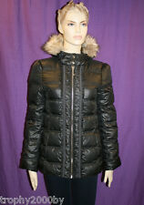 NEW JUICY COUTURE $378 BLACK PUFFER HOODED DOWN COAT JACKET SZ M MEDIUM