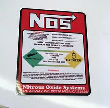 NO Weight NOS NITROUS OXIDE BOTTLE LABEL STICKER DECAL THE BEST QUALITY