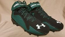 Under Armour Team Renegade MC Black/Green Football Cleats Size 13 1244409-704
