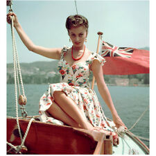 Sophia Loren Sailing on a Boat Looking Serious 8 x 10 Inch Photo
