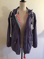 Joules Tom Joule Blue 'Kristen' Waterproof Hooded Rain Mac Coat Jacket Size 10