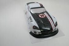 White Dodge Viper Pre-Painted Body 1/10th Scale SRT HPI Traxxas Kyohso  AS_IS