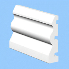 1 X White upvc plastic ogee 70mm door architrave Trim