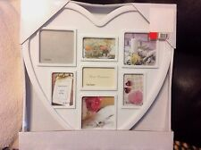 NEW Heart Family Multi Picture Photo Love Frame White include GIFT