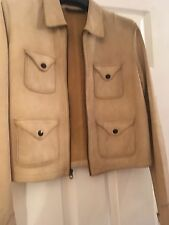 Polo Ralph Lauren Suede Leather Jacket UK 6 Fits Size 8 Muubaa All Saints