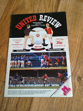 17/04/1982 Manchester United Vs Tottenham Football Match Programme