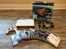 Sony PlayStation 3 500GB Crystal White Limited Edition Bundle with 9 Games