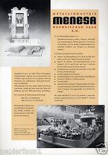 Metallindustrie Menesa Neunkirchen XL Reklame 1956 Saar Metall Kanister Blech ad
