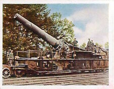 German Soldiers Train Captured Railgun Deutsches Heer WWI WELTKRIEG 14/18 CHROMO