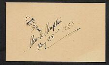 Charlie Chaplin Autograph Reprint On Genuine Original Period 1920s 3x5 Card