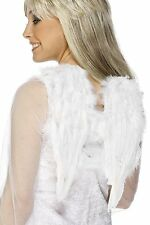 "Real Feather Angel Wings White Costume Club Wing Small 16"" Span Womens Adult NEW"