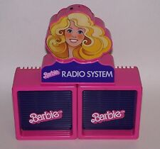 Barbie Doll Radio System w/ 2 Speakers Vintage 1984 Mattel