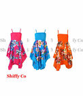 Girls Floral Summer Party Beach Maxi Dress Kids Sundress New Age 3 -10 Years