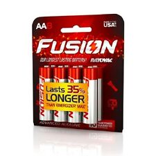 Fusion 815-8CTFUS by Rayovac High-Power Alkaline Batteries, Size AA, 8-Pack