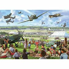 GIBSONS THE AIRSHOW 1000 PIECE JIGSAW PUZZLE FOR VINTAGE AIRCRAFT FANS