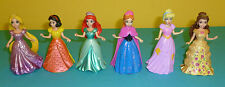 Polly Pocket Disney Princesses Belle Rapunzel Emma Snow Ariel Magic Clip Dresses