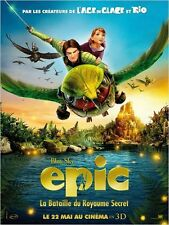 Affiche 40x60cm EPIC : LA BATAILLE DU ROYAUME SECRET 2013 Film d'animation TBE