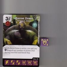 DICE MASTERS AGE OF ULTRON COMMON #35 BARON ZEMO HELMUT J. ZEMO CARD WITH DICE