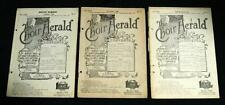 LOT OF 3 THE CHOIR HERALD MAGAZINE PUBLICATIONS SHEET MUSIC 1921 VINTAGE