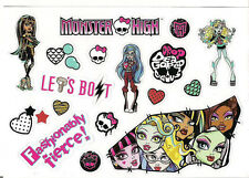 "Monster High Stickers Decal Sheet Sticker Adhesive Mattel Scary 5.75"" x 4"" NEW"