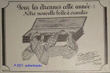 PUBLICITE 1925 CHAPEAU DELION BOITE A CRAVATES FRENCH ORIGINAL HAT AD