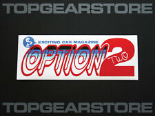 JDM Option2 Magazine Option 2 Bumper Sticker Drift Tengoku Doriten Wagon Video