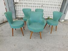 5 FUNKY 1940'S ART DECO /  ART MODERNE  DINING CHAIRS SOLD AS FOUND -P